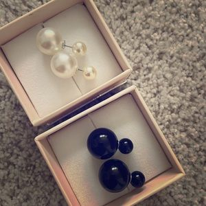 Synthetic pearl double sided earnings